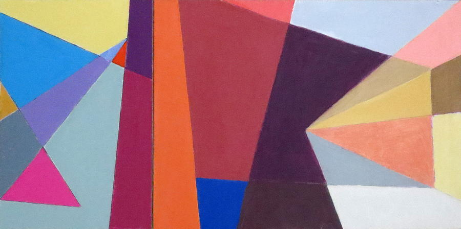 Abstract Expressionist Collage Mixed Media - abstract angles I by Diane Fine