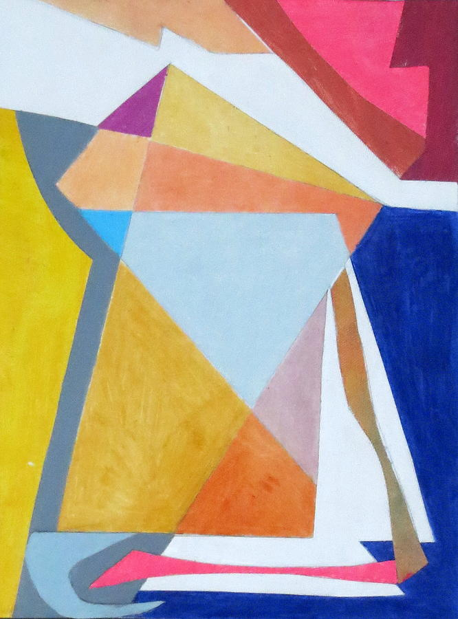 Abstract Expressionism Mixed Media - Abstract Angles IIi by Diane Fine