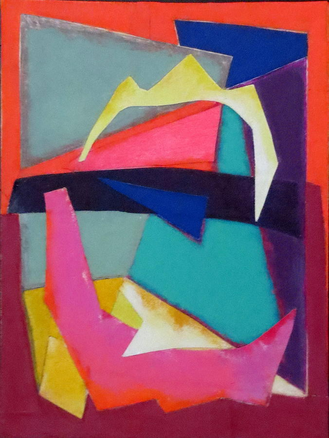 Abstract Expressionism Mixed Media - Abstract Angles Iv by Diane Fine