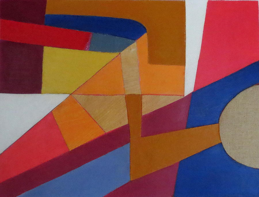 Abstract Expressionism Mixed Media - Abstract Angles Viii by Diane Fine
