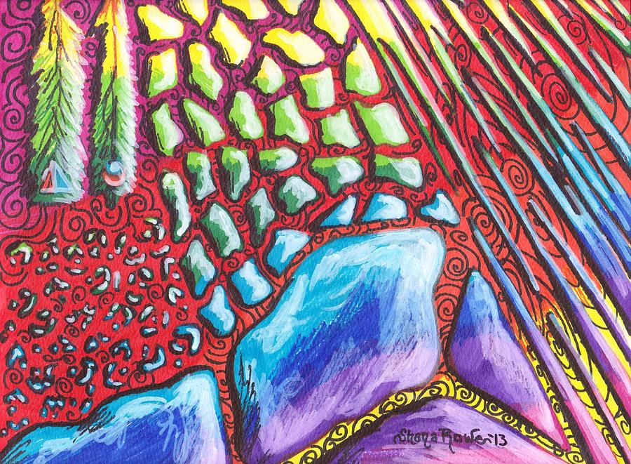 Feather Drawing - Abstract Animal Print by Shana Rowe Jackson