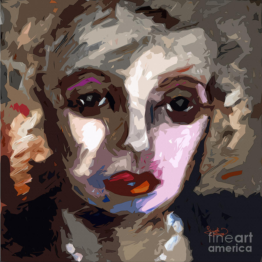 Abstract Painting - Abstract Art Bette Davis Eyes  by Ginette Callaway
