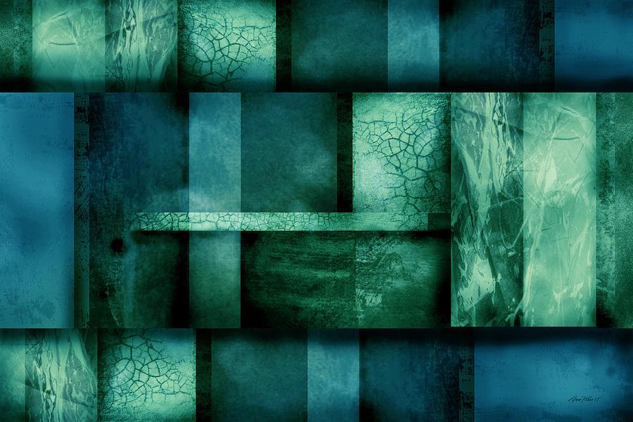Abstract Digital Art - abstract art Blue Dream by Ann Powell