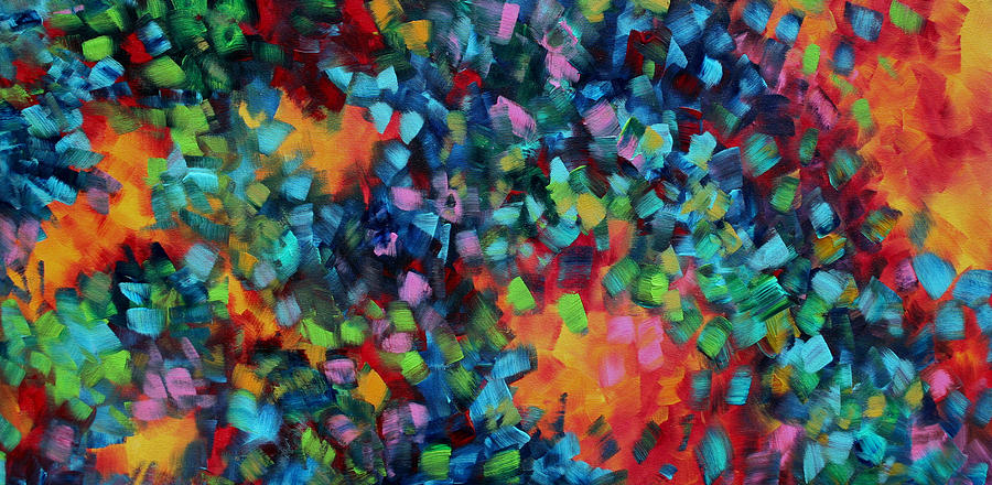 Abstract art bold colorful modern art original painting for Artist canvas paint color