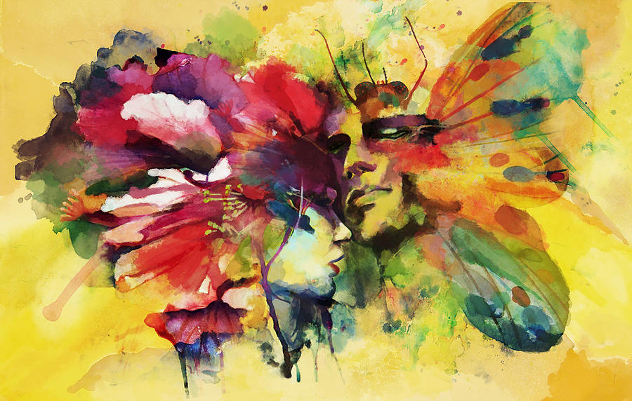 Abstract Art Painting - Abstract Art by Catf