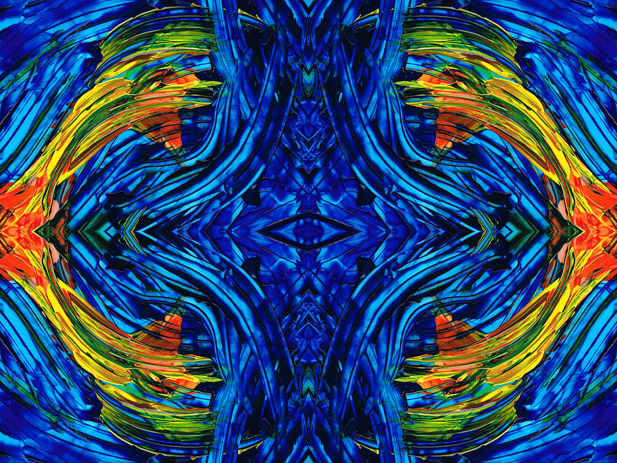 Abstract Paintings Painting - Abstract Art - Center Point - By Sharon Cummings by Sharon Cummings