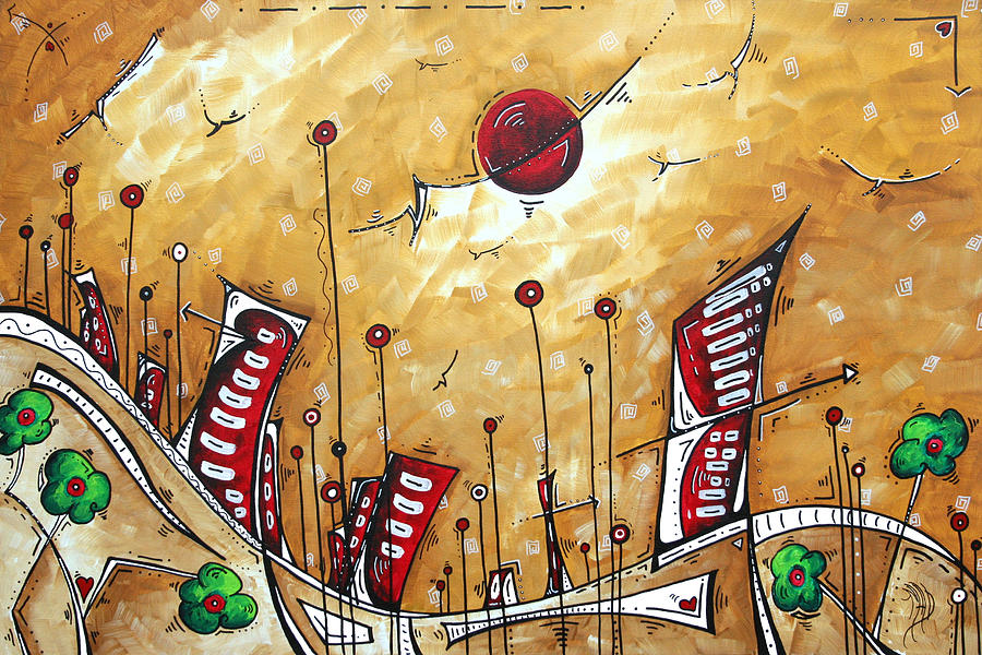 Abstract Art Cityscape Original Painting The Garden City By Madart ...