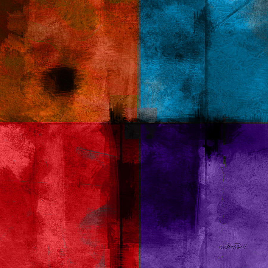 Abstract Digital Art - abstract - art- Color Block Square by Ann Powell