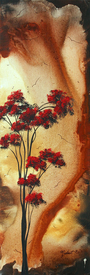 Wall Painting - Abstract Art Colorful Original Landscape Painting Birds Aloft By Madart by Megan Duncanson