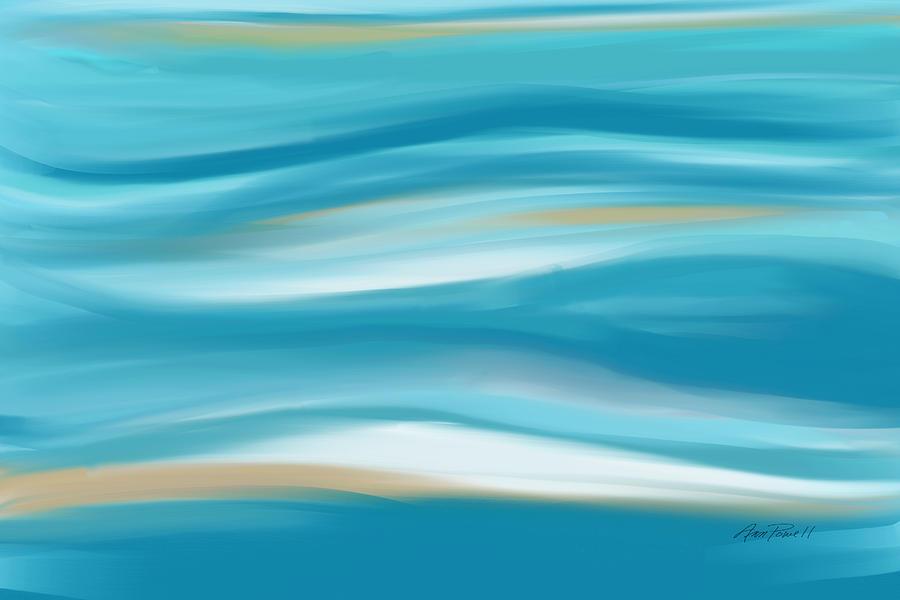 Blue Digital Art - abstract - art-  Contemplation  by Ann Powell