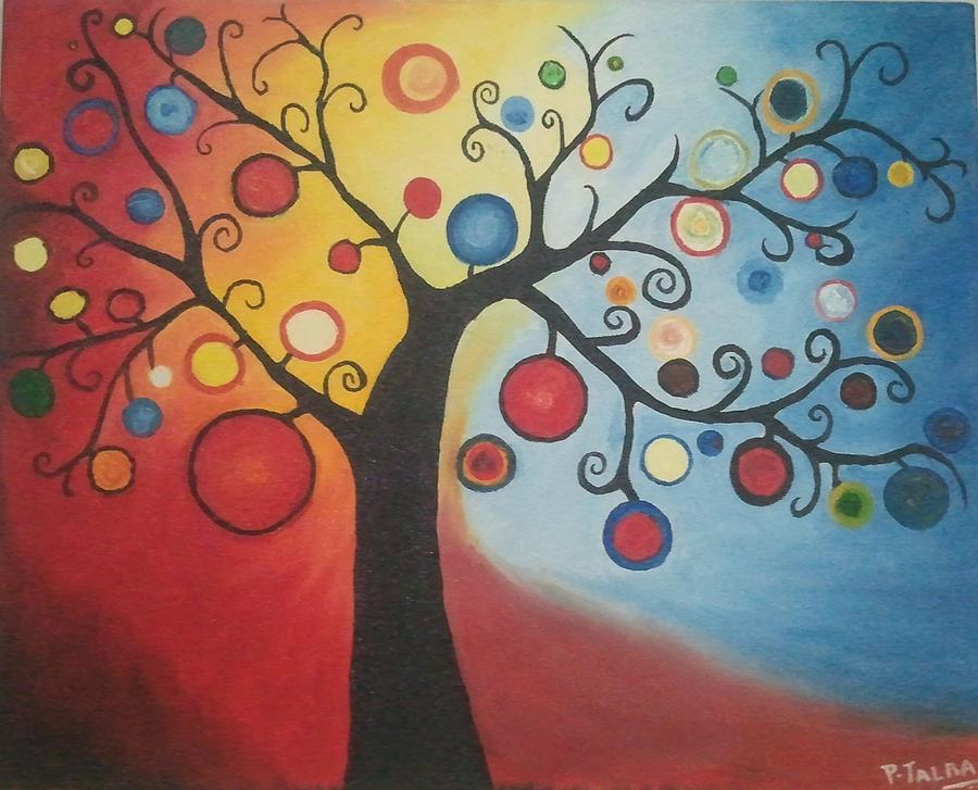 abstract art glamorous life painting by pallavi talra