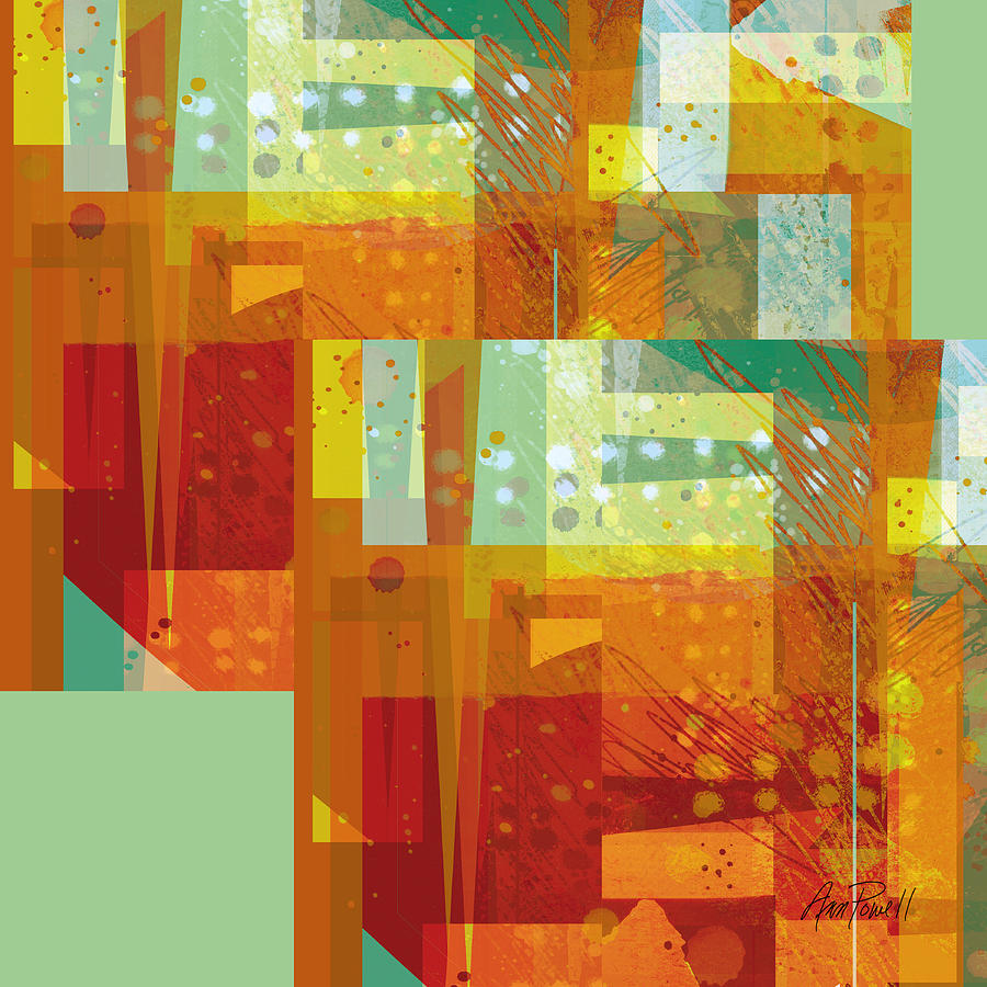 Abstract art intersect orange digital art by ann powell for Sell abstract art online