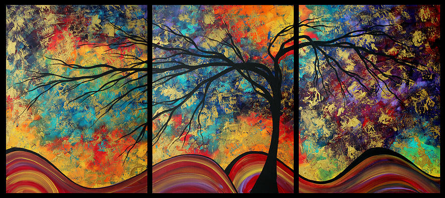 Artwork Painting - Abstract Art Original Landscape Painting Go Forth By Madart by Megan Duncanson