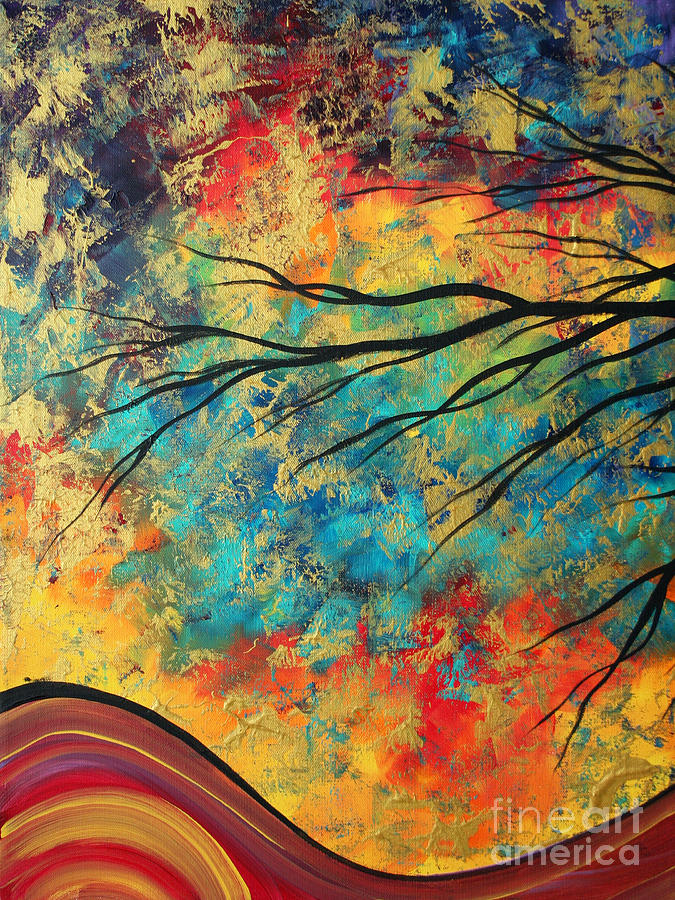 Abstract Painting - Abstract Art Original Landscape Painting Go Forth I By Madart Studios by Megan Duncanson