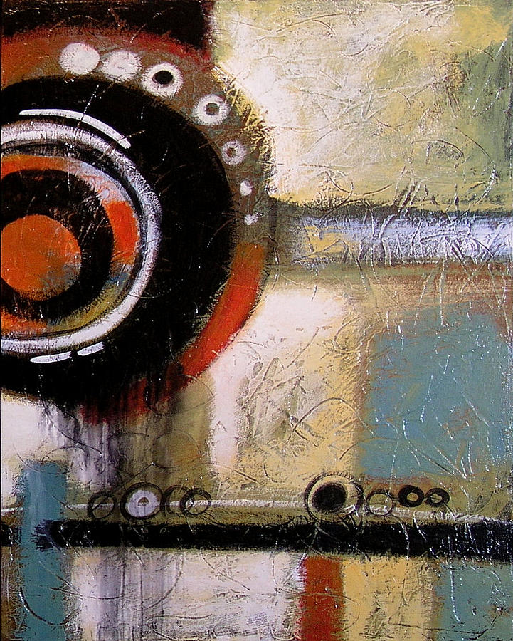 Abstract Painting - Abstract Art Print ... The World Goes Round 2 by Amy Giacomelli