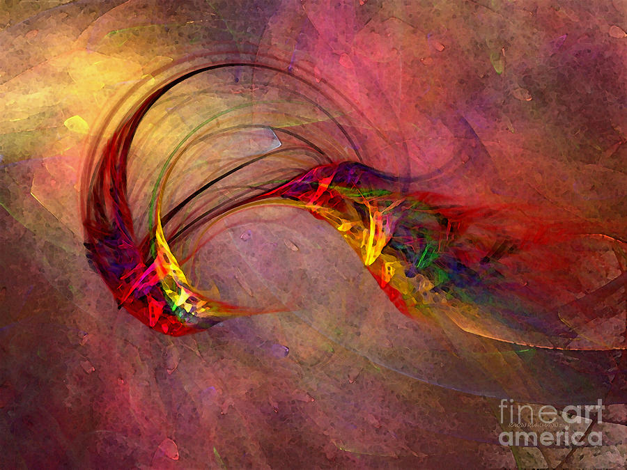 Abstract art print hummingbird digital art by karin kuhlmann Fine art america