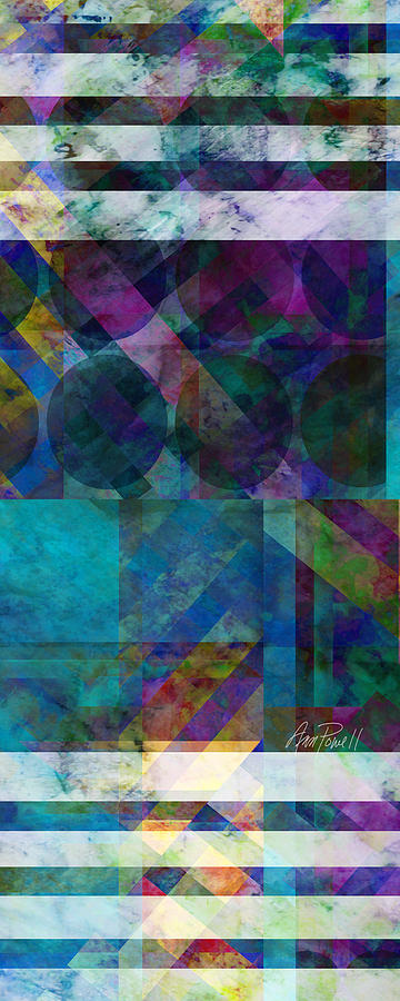 Abstract Digital Art - abstract - art - Stripes Five  by Ann Powell