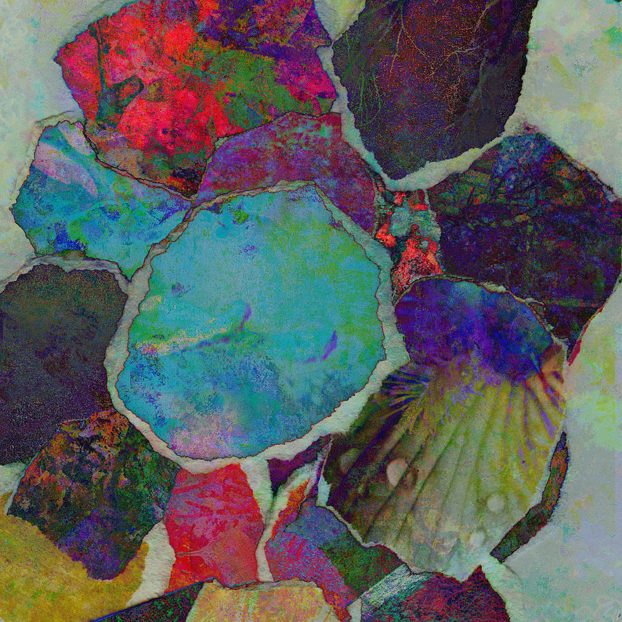 Collage Mixed Media - Abstract Art Torn Collage  by Ann Powell