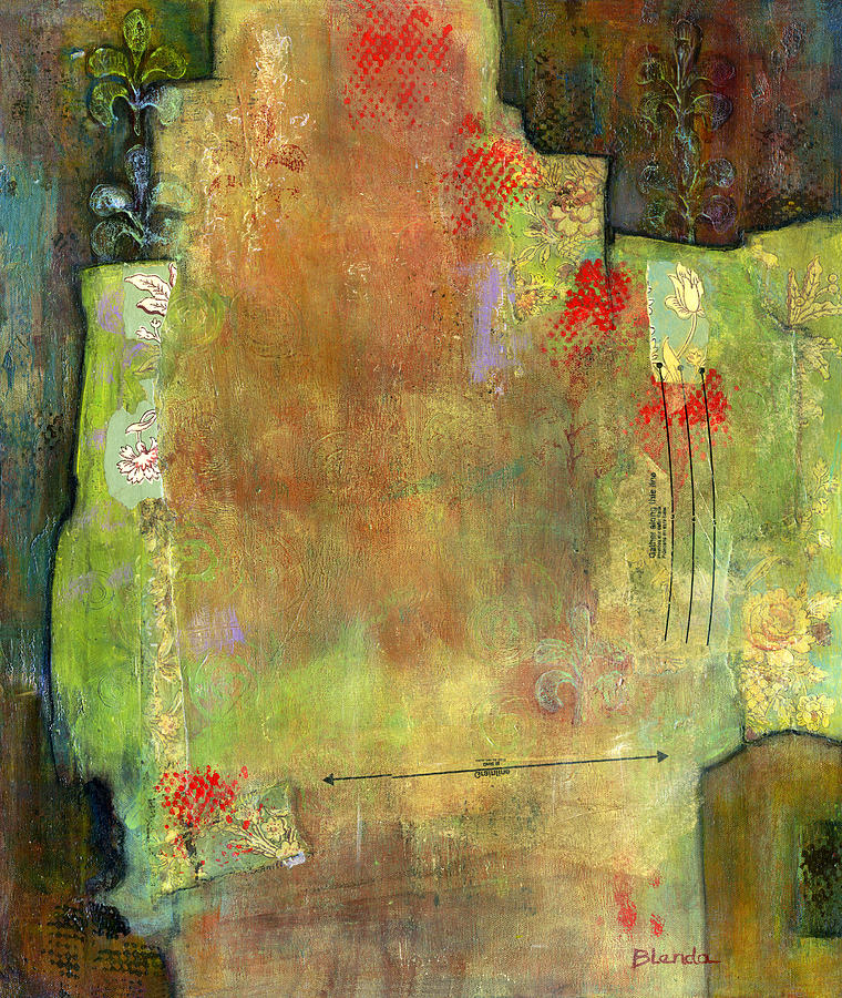 Abstract Painting - Abstract Art Where The Love Is by Blenda Studio