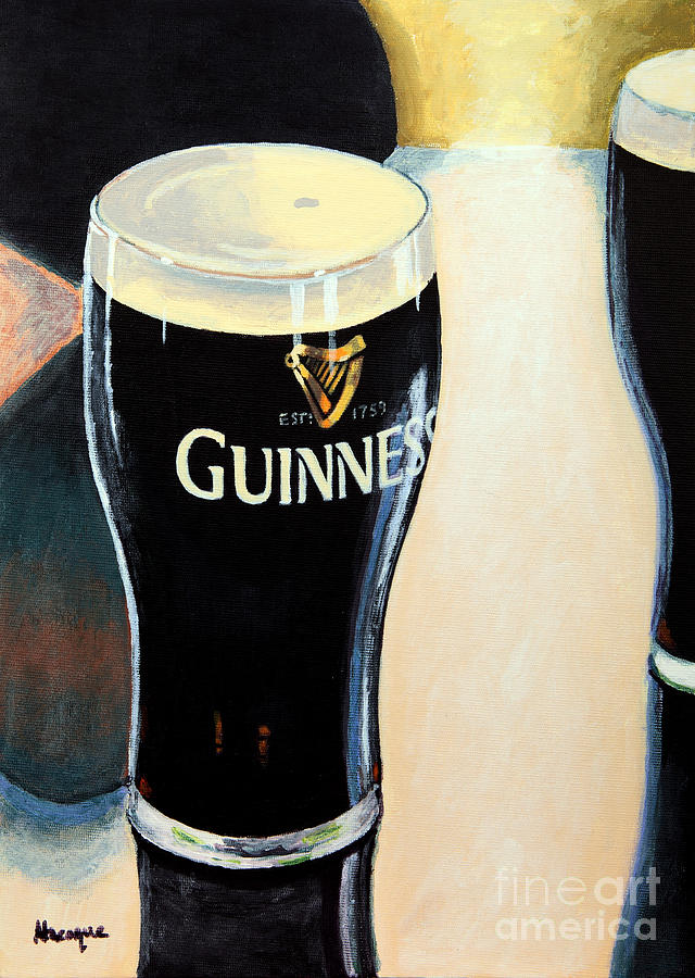 Guinness Painting - Abstract Arthur by Alacoque Doyle