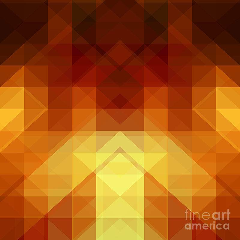 Hipster Digital Art - Abstract Background From Triangle Shapes by Ksanagraphica