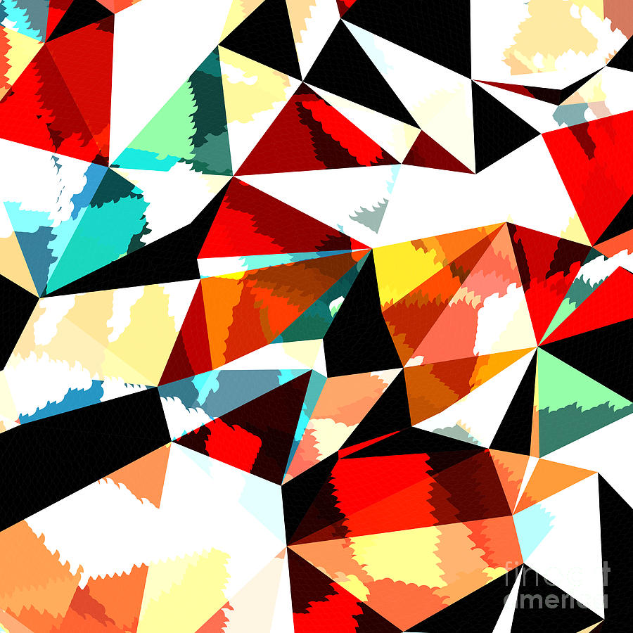 Newsletter Digital Art - Abstract Background With Triangles And by Romas photo