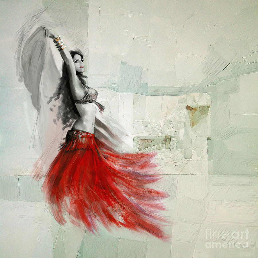 Abstract Belly Dancer 18 Painting by Mahnoor Shah