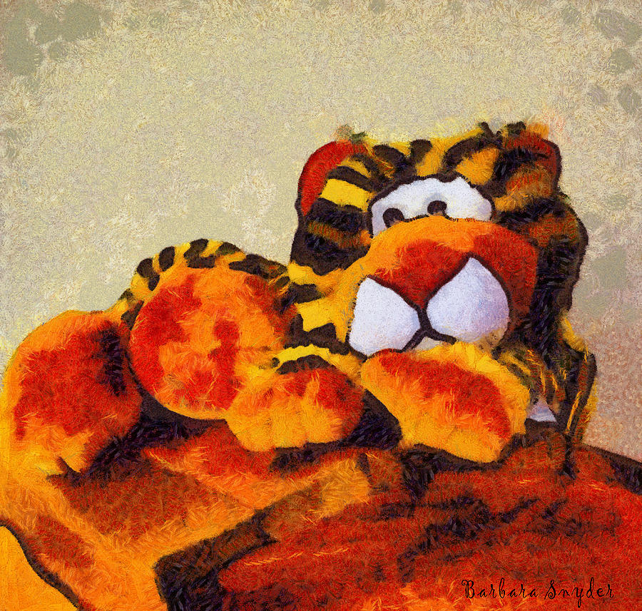 Barbara Snyder Digital Art - Abstract Bengal Tiger by Barbara Snyder