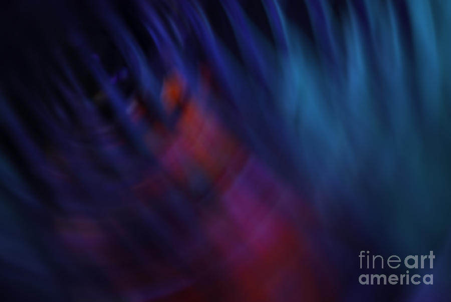 Blue Photograph - Abstract Blue Red Green Diagonal Blur by Marvin Spates