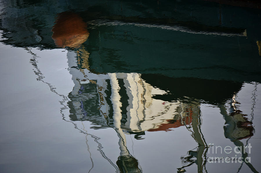 Abstract Photograph - Abstract Boat Reflection II by Dave Gordon