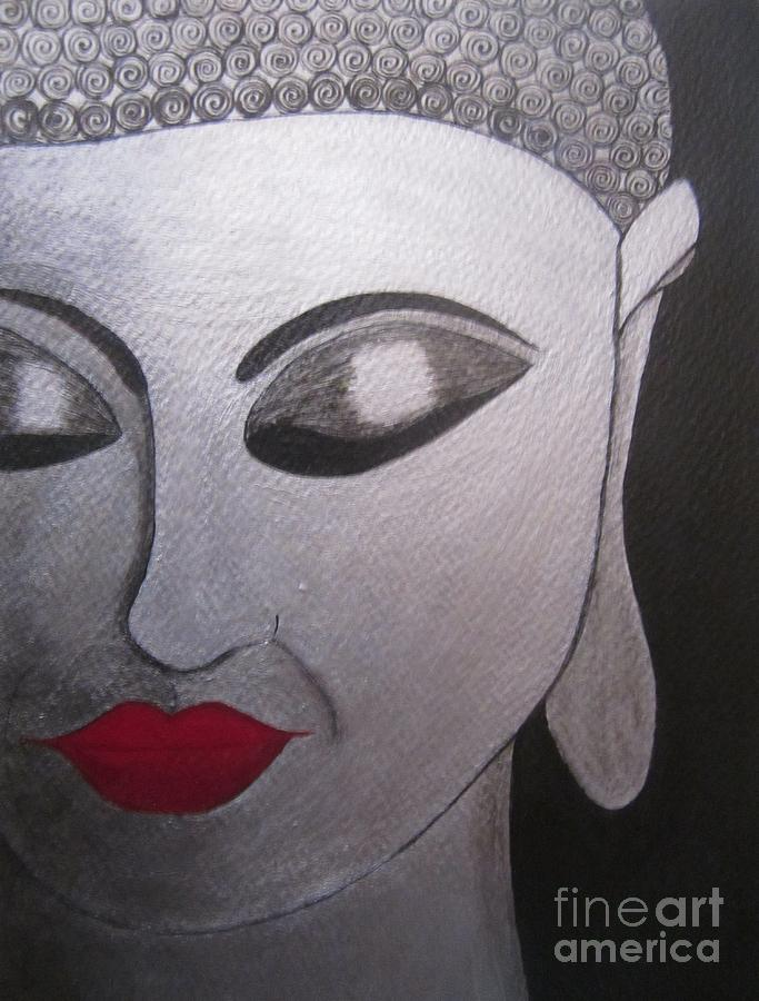 Acrylic Painting Painting - Abstract Buddha by Priyanka Rastogi