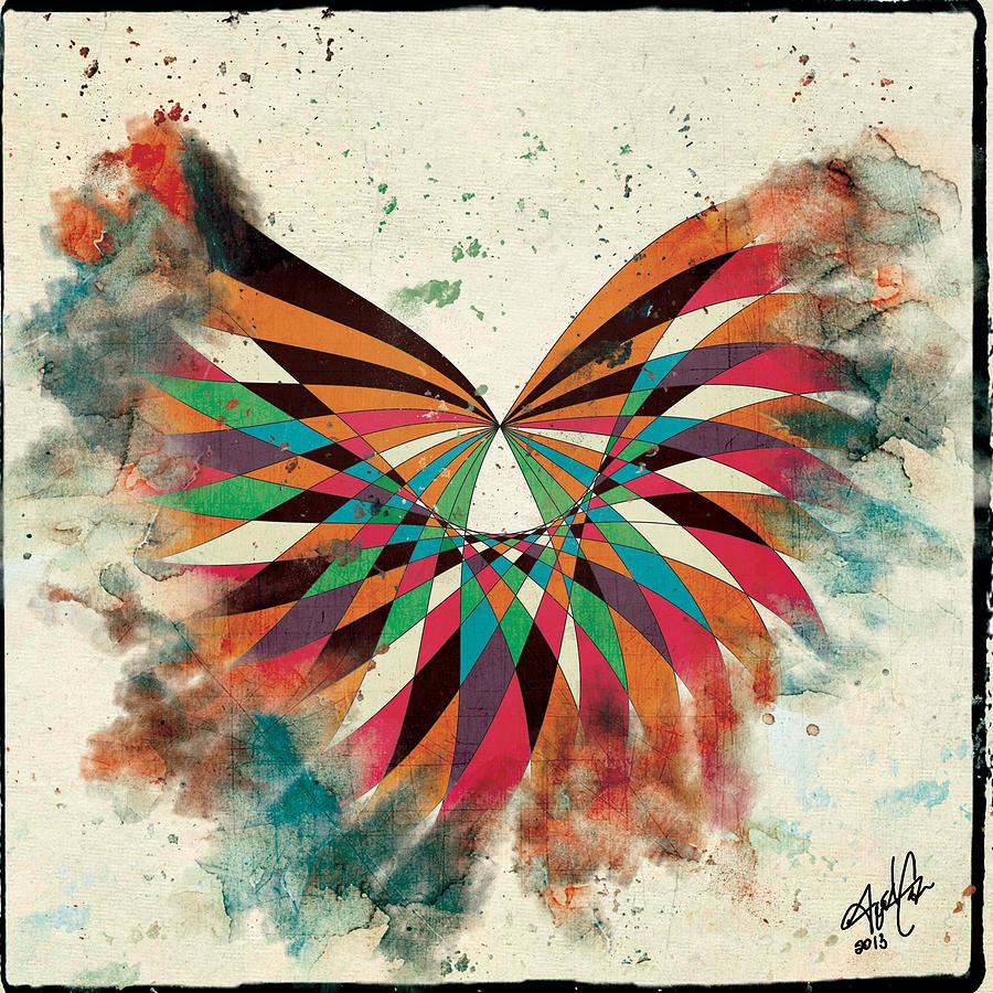 Drawing Drawing - Abstract Butterfly by April Gann