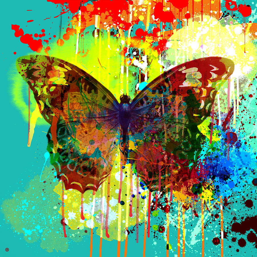 Abstract Butterfly Painting - Abstract Butterfly by Gary Grayson