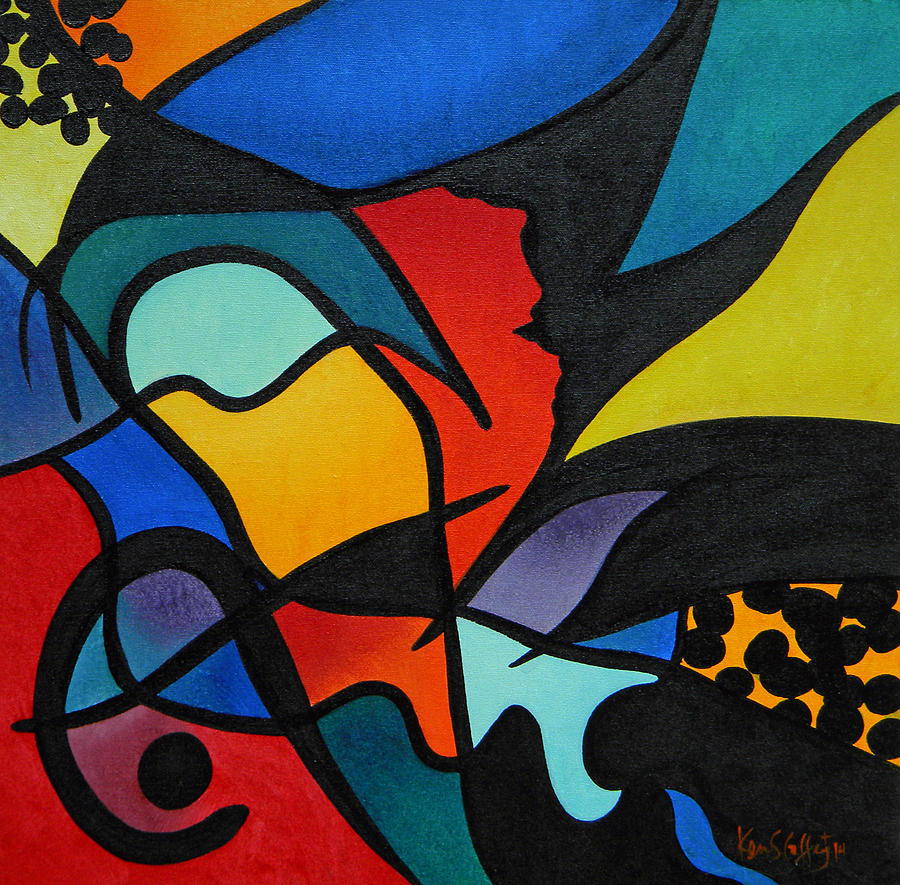 Abstract Painting - Abstract C by Ken Caffey
