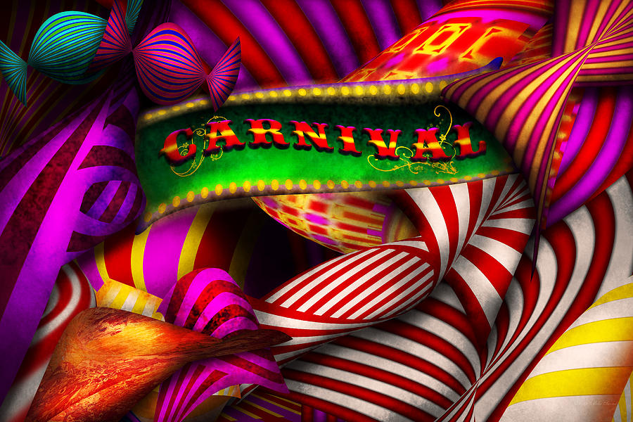 Carnival Photograph - Abstract - Carnival by Mike Savad