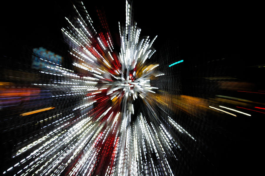 Abstract Christmas Lights In Red