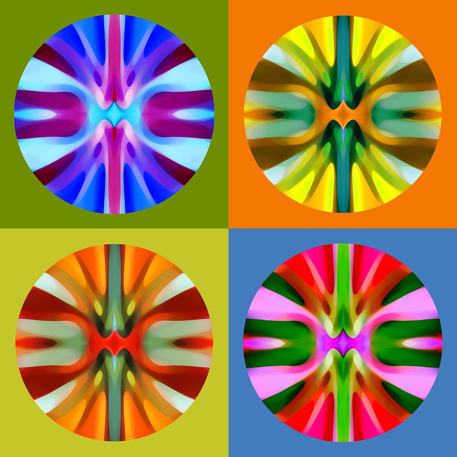 Abstract Painting - Abstract Circles And Squares 1 by Amy Vangsgard