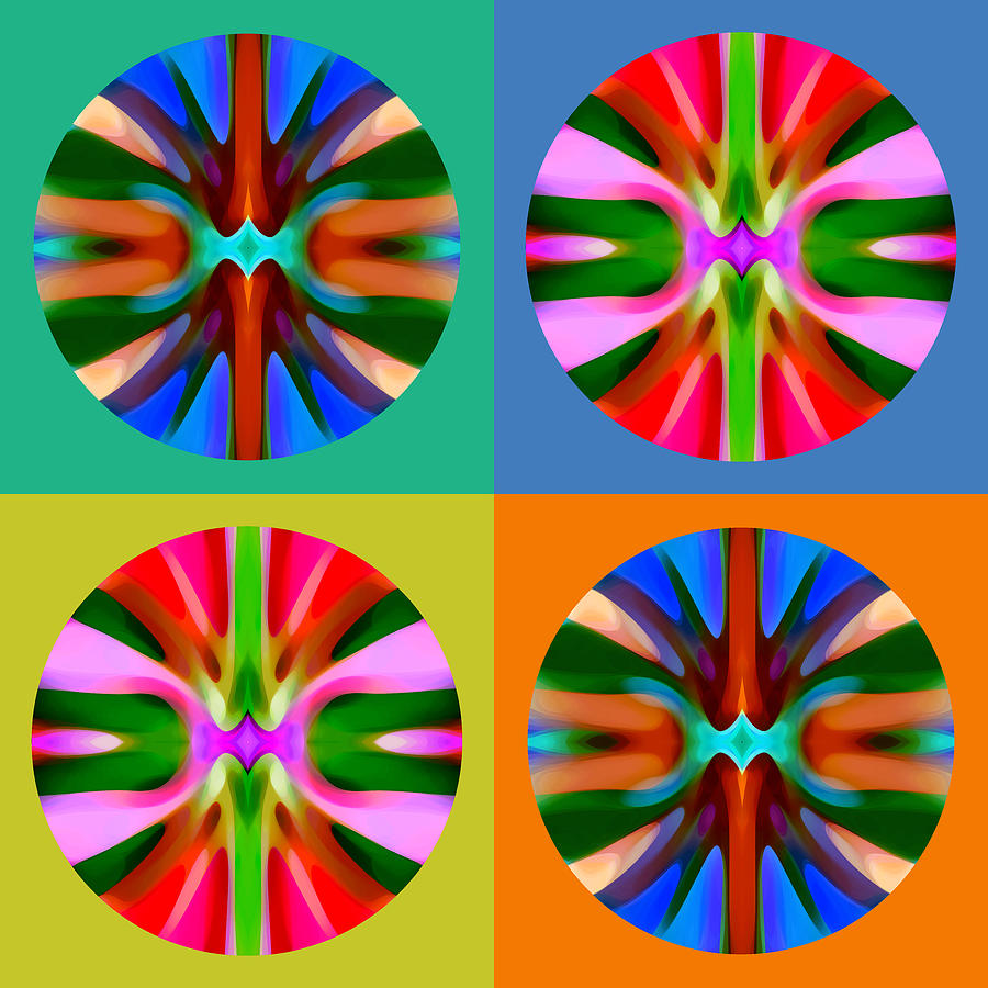 Abstract Painting - Abstract Circles And Squares 4 by Amy Vangsgard