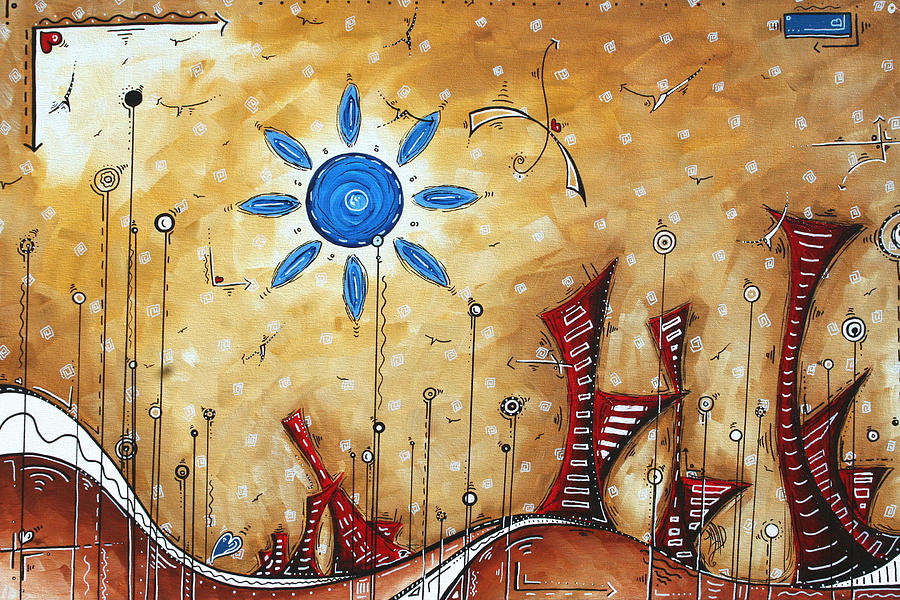 Abstract City Cityscape Contemporary Art Original Painting The Lost ...