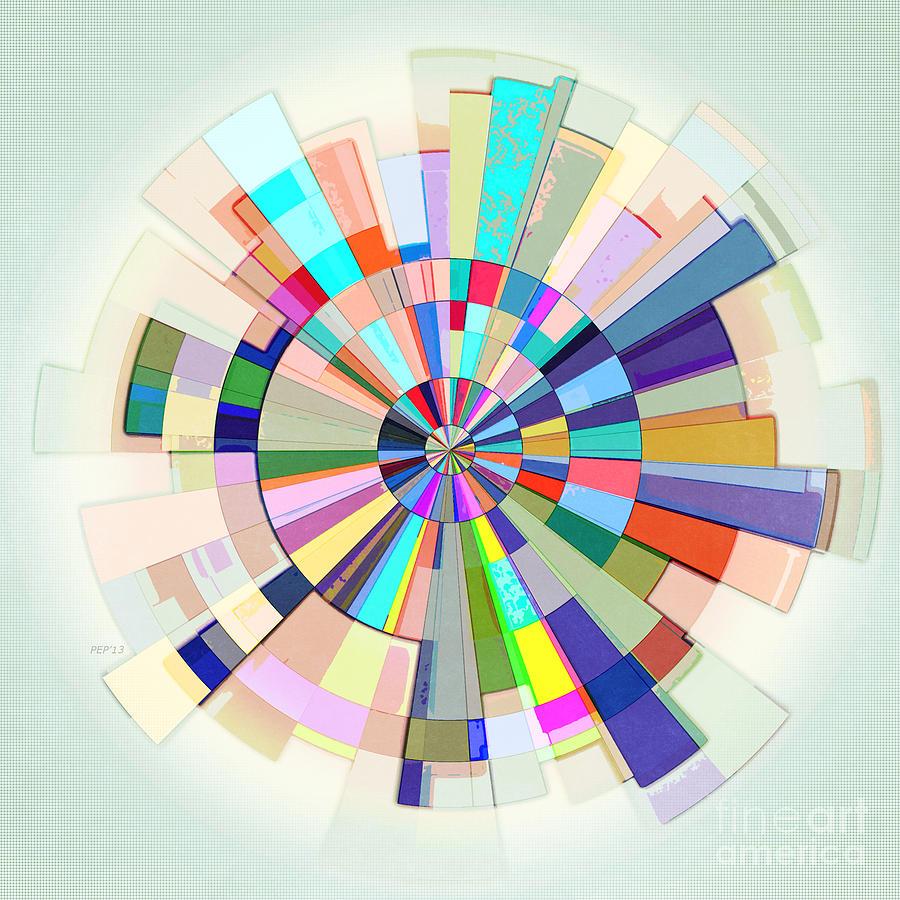 Color Wheel Digital Art - Abstract Color Wheel by Phil Perkins