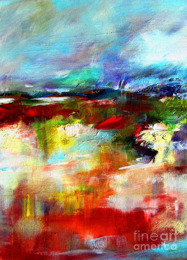 wild irish abstract landscape available as a signed and numbered print www.pixi-art.com by Mary Cahalan Lee- aka PIXI
