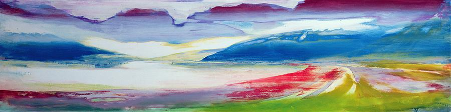 Landscape Painting - Abstract Composition by Lou Gibbs