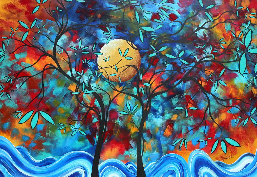 Abstract Contemporary Colorful Landscape Painting Lovers ... Colorful Art