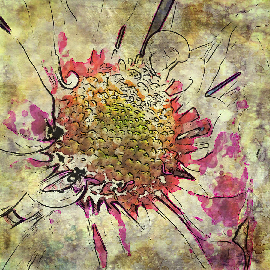 Abstract Daisy  by Mary Underwood