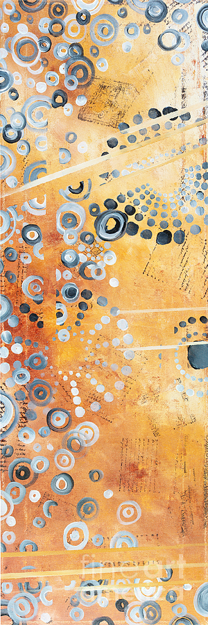 Abstract Painting - Abstract Decorative Art Original Circles Trendy Painting by MADART Studios by Megan Duncanson