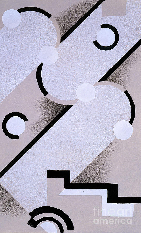 Constructivist Painting - Abstract Design From Nouvelles Compositions Decoratives by Serge Gladky