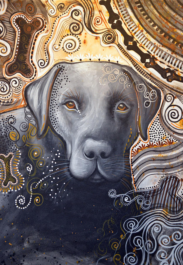 Dog Painting - Abstract Dog Art Print ... Rudy by Amy Giacomelli