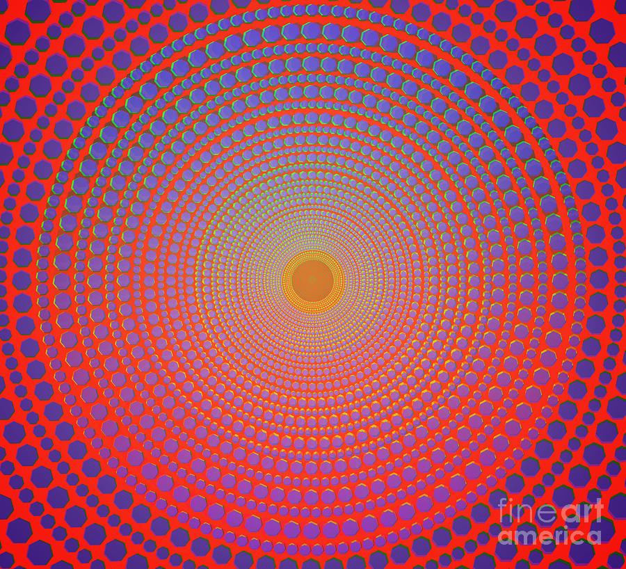 Abstract Digital Art - Abstract Dot by Atiketta Sangasaeng