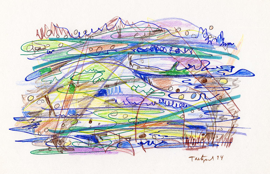 Abstract Drawing - Abstract Drawing Eleven by Lynne Taetzsch