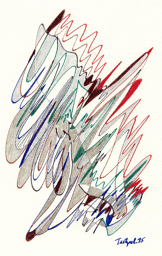 Abstract Drawing - Abstract Drawing Fifty-one by Lynne Taetzsch